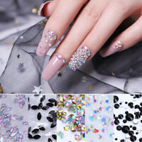 Nail Art Rhinestones Crystal Marquise Flat Back Mixed Size Studs 3D Decoration