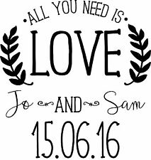 Personalised Wedding Stamp - All you need is Love