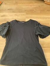 M&s Autograph Black Tshirt Size 10
