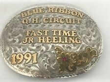 ROPING TROPHY BUCKLE STERLING