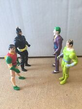 Vintage DC ToyBiz DC Superheroes Batman & Robin And Joker & Riddler Figure Lot