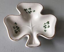 Carrigaline Pottery (Shamrock Shape) Trinket Dish, Co. Cork, Ireland  Vintage