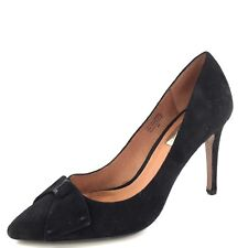 Halogen Marla Black Suede Marla Pointed Toe Bow Pumps Women's Size 6 M*