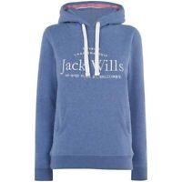 Jack Wills Women's Hunston Embroidered Hoodie In Blue Marl