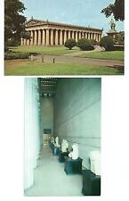 2 Vintage Postcards from the Parthenon in Nashville, Tennessee - 1940s & 1950s