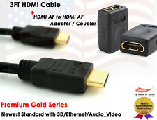 Yellowknife Gold Series - 3FT 1.4v GOLD-PLATED HDMI + HDMI F/F Extension Coupler