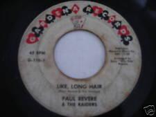 Paul Revere & the Raiders Like Long Hair 1961 45rpm