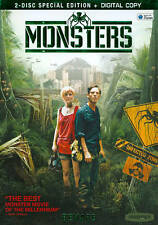 Monsters (DVD, Sci-Fi, Fantasy, Widescreen, 2011, 2-Disc Set) Brand New, Sealed