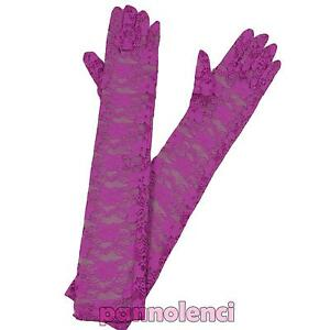 Long Gloves Lace Floral Carnival Burlesque Bride Lingerie New A-04