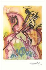 Salvador Dali St George & The Dragon Facsimile Signed Lithograph COA