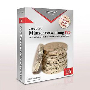 Stecotec Münzen-Verwaltung Pro 16: Die Profi-Software für Münzsammler - Programm