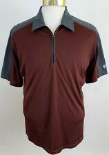 Kuhl Men's Coffeenna Polo Shirt 1/4 Zip Maroon Gray XL