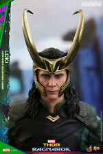 "Hot Toys Marvel Thor: Ragnarok Loki Tom Hiddleston 1/6 Scale 12"" Figure In Stock"