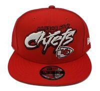 Kansas City Chiefs New Era 9Fifty Graffiti Script Adjustable Snapback Hat Cap