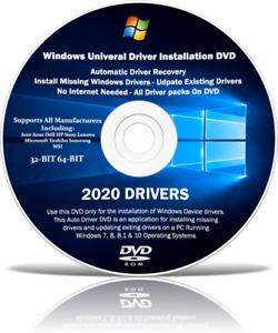 Windows Driver Repair & restore DVD, PC & Laptop missing drivers XP Vista 7 8 10