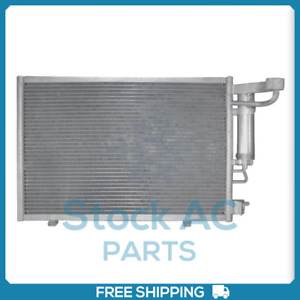 New A/C Condenser w/ Drier for Ford Fiesta 2011 to 2013 - OE# BE8Z19712A