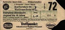 Ticket II. BL 83/84 Karlsruher SC - SG Wattenscheid 09, Stehplatz überdacht