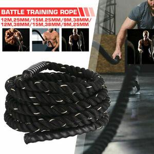 12M Battle Rope Black Battling Ropes Strength Training Exercise Fitness