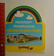Aufkleber/Sticker: Fruchtquell Naturella Fruchtsaft Pfandflasche (081016115)