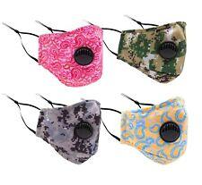 Reusable Washable Face Cover Adjustable Ear Loop Cloth Fabric Cotton With Filter