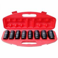 Axle Nut Socket 34 Inch Drive 8 Piece Metric Set For Vehicle 12pt Axle Nut