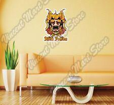 "Dark Poison Clown Mask Scary Gift Idea Wall Sticker Room Interior Decor 20""X25"""