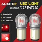 2X AUXITO 1157 2057 Red LED Stop Turn Signal Brake Tail Light Bulbs BAY15D