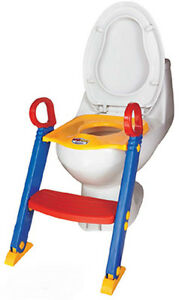 Children Toilet Seat And Ladder Toddler Training Step Up Easy Fold Down Kids UK