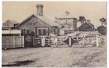 London; Ripple Rd Level Crossing, Barking, c 1880 Repro PPC, Unposted