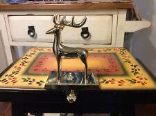 Christmas Modern Brass Reindeer Stocking Hanger / Holder for Mantel