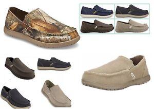 Men's CROCS Original  Santa Cruz  KHAKI , NAVY BLUE CAMO REALTREE Canvas  Shoes