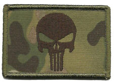 Punisher Tactical Morale Patch MULTICAM 3 x 2 inch HOOK LOOP PATCH