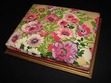 Vintage French Textile Covered Cushioned Chocolate/Boudoir Box