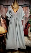 Vintage Cotton Antique Sheer Lace Nightgown Paisley Nightie Gown Day Dress XL
