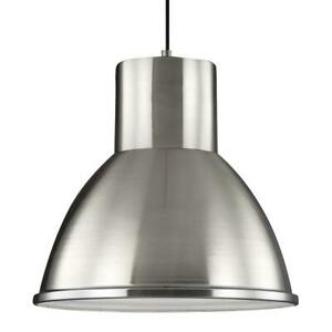 Division Street 15 in. W 14-Watt Brushed Nickel Integrated LED Pendant