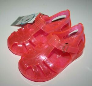 Carter's Weslee Caged Bow Jelly Sandal Shoes Baby & Toddler Pink, Clear Size 5 6