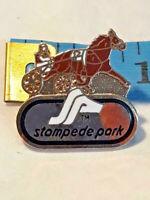 Vintage Stampede Park Pin Racing Horse Jockey ~ Ships FREE