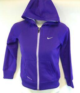 Girls Youth Kids Nike 546100 547 Purple Therma Fit Full Zip Up Hoodie Jacket