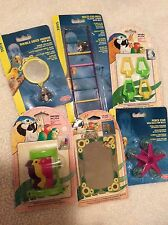BT6 Living World, Penn Plax Lot of 6 small bird toys Mirror Ladder Bells Perch