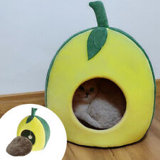 Pet Dog Cat Cave Bed Puppy Soft Warm Nest House Winter Sleeping Igloo Kennel S-L