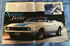 """1972 Ford Mustang Olympic Sprint Convertible Vintage Info Article """"Spring Fever"""""""