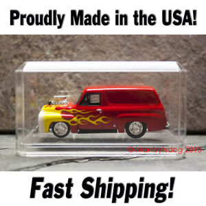 NEW 1:64 SCALE CRYSTAL CLEAR ACRYLIC DISPLAY CASE MATCHBOX HOT WHEELS USA Made!