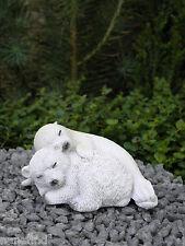 Miniature Dollhouse FAIRY GARDEN ~ Sleeping Baby Polar Bear & Seal ~ NEW