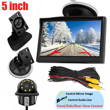 5'' TFT LCD Monitor Car Backup Camera Rear View Parking System Night Vision Kit