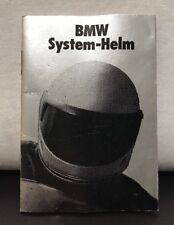 BMW Motorrad Moto System-Helm Casco Vintage Western Germania Manuale Libretto