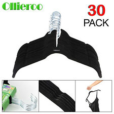 Ollieroo 30 Piece Flocked Thin Non Slip Velvet Clothes Suit/Shirt/Pants Hangers