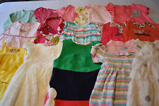 USED 22 PC. LOT OF BABY GIRL CLOTHES 6-12 MONTHS EUC/VGUC