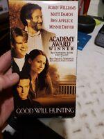 Good Will Hunting Movie VHS R Robin Williams Matt Damon Ben Affleck Minnie Drive