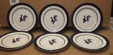 """6 Home Rooster Plates Vintage Dishwasher Safe 7.75"""""""