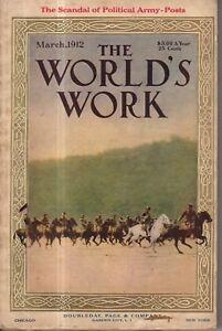 1912 World's Work March - Tesla Turbine; Louisiana health; Nanking falls; Teddy